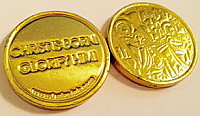 CCC-3 Nativity Gold Foil Milk Chocolate Coins