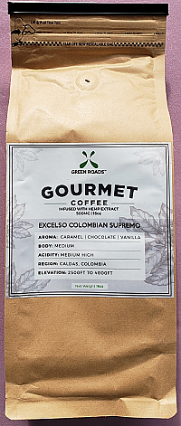 GRW CBD Gourmet Coffee 16 oz bag