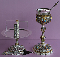 SS-205 Sterling Silver Chalice Set