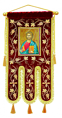 B-2179 Banner with Christ Icon