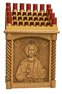 Votive Stand with Carved Icon of Christ the Teacher