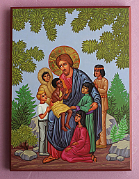 IC-800 B Christ with Children Icon